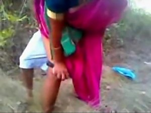 Indian Kerala aunty fucked by two college boys doggystyle outdoor