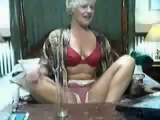 Nice stolen video of my mum havinf fun on web cam