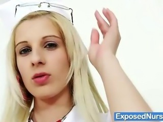 Sexy nurse Mia Hilton got glasses and uniform
