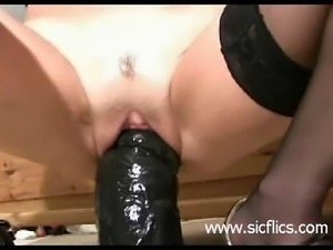 Shameless amateur slut needs monster black dildos to satisfy her hungry loose...