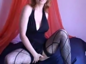 Amateur teases onto webcam