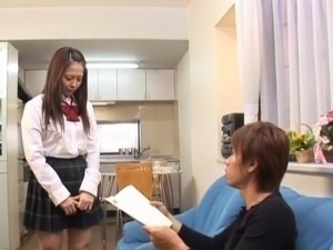 Horny school girl Hinayo Motoki moist