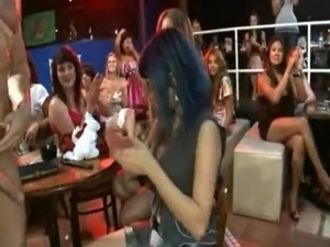 A dancing man has his fill of drunk girls