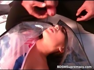 Helpless slut sucks cock part1