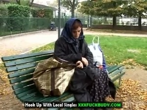 Homeless cougar will fuck for food free